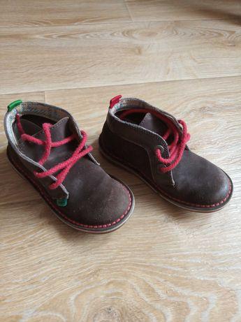 Стильные коричневые ботинки черевички KicKers р 28 Замша,кожа. Унисекс