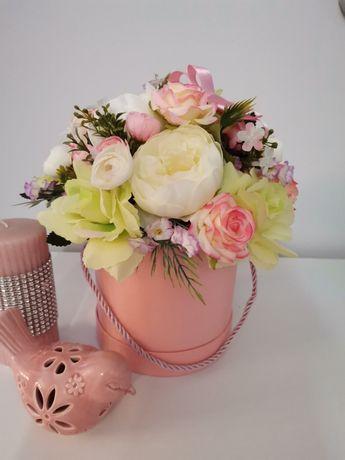 Flower box pudełko z kwiatami dekoracja rękodzieło