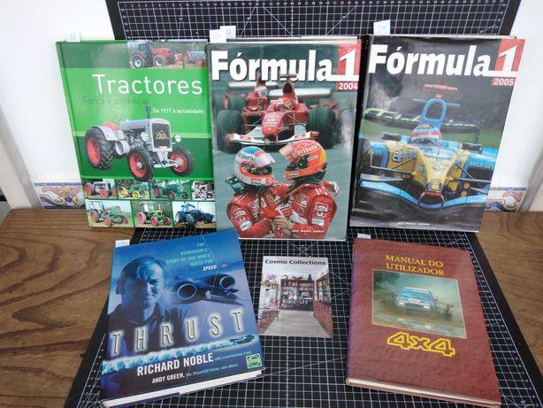 Livros Fórmula1 2004 e 2005, Tractores, 4x4 Nissan, Thurst, auto