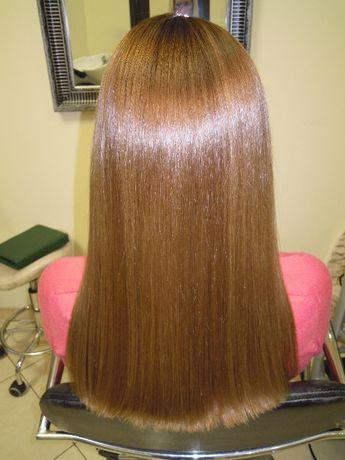 Выпрямление волос. Кератиновое выравнивание волос. Ботокс, Кератин