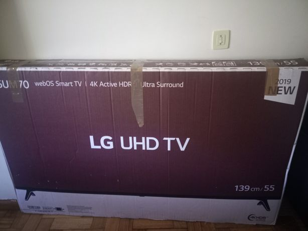 Smart TV ecrã partido