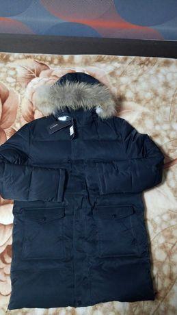 Новая Куртка Длинная Парка мужская зимняя