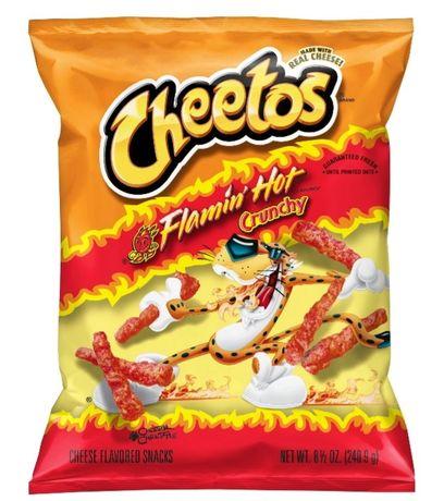 Cheetos flamin HOT! (Frito Lay, lays, chipsy, chrupki, słodycze z USA)