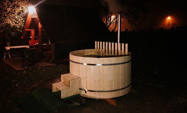 Balia ogrodowa jacuzzi  sauna drewniana bania z piecem hot tube