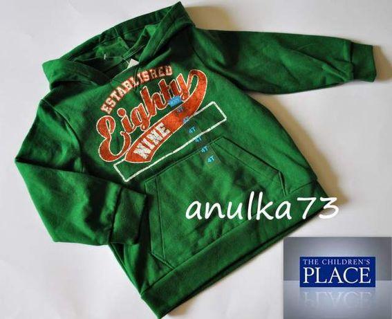 NOWA zielona bluza z kapturem The children's PLACE z USA 4T rozm. 104