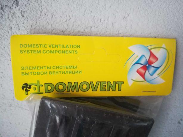 Решетка вентиляции прямоугольная Домовент ДВ 430/2 пластик коричн