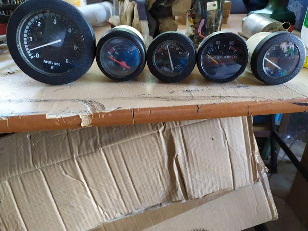Komplet zegarów na jacht, motorówkę z wiązką oraz stacyjką!! 5 sztuk!