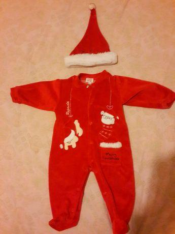 Новогодний костюм человечек Санты на 12-18 месяцев