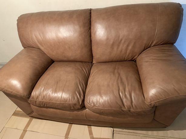 кожаный/шкіряний коричневый диван