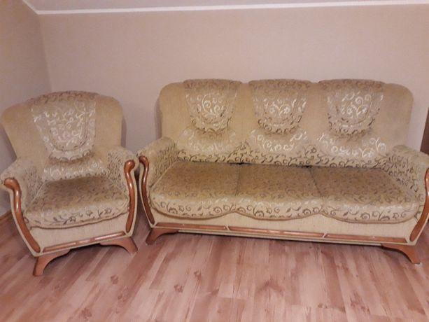 Zestaw mebli Fryderyk sofa 3-osobowa rozkładana + 2 fotele