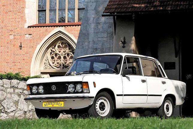 Zabytkowy samochód do ślubu FIAT 125p auto ślub wesele retro klasyk