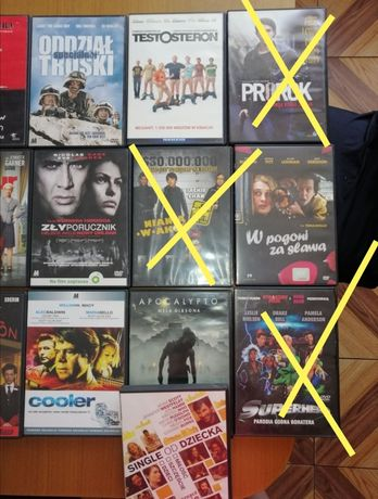 Filmy DVD różne.