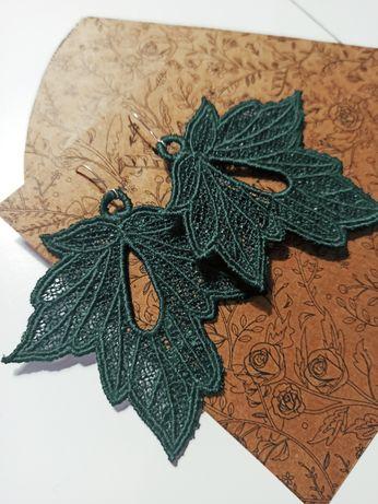 Kolczyki haftowane srebro 925 idealne na prezent