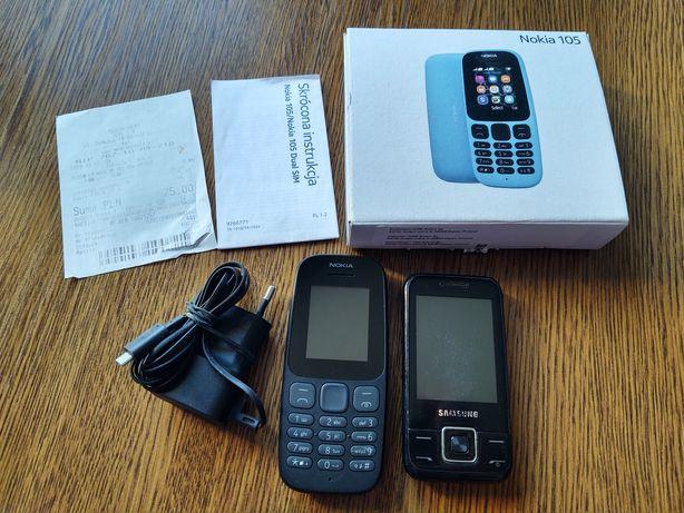 Sprzedam zestaw telefonów: 1x Nokia 1x Samsung