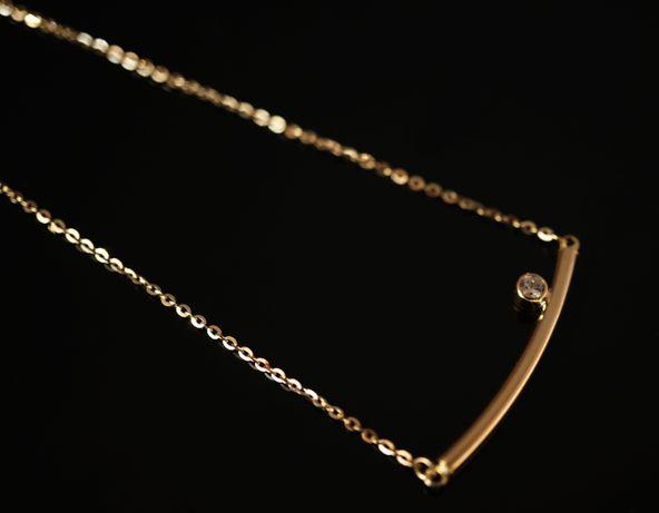 Złoto 585 - złoty łańcuszek Celebrytka.
