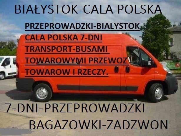 Przeprowadzki-drobne z wnoszeniem-Transport busami dostawczymi