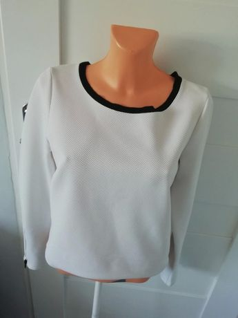 biała pikowana bluzka reserved