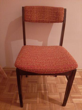 Krzesła tapicerowane drewniane PRL 8 sztuk