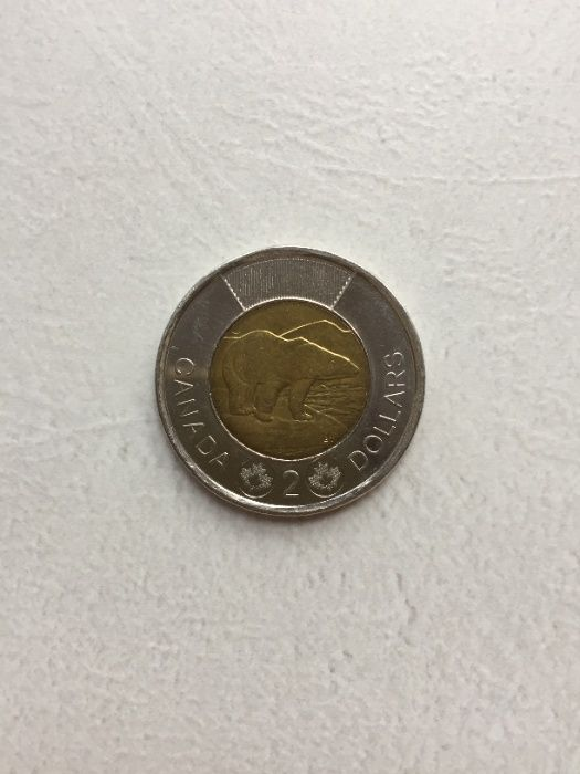Канада 2 доллара, 2012 Полярный медведь UNC Бесплатная доставка! Киев - изображение 1