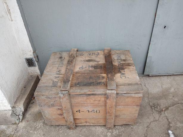 Drewniana skrzynia amunicyjna
