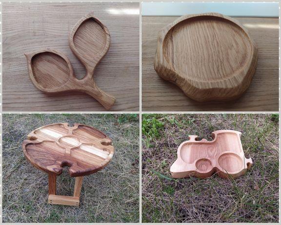 Тарелки, посуда из дерева на подарок