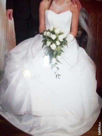 Suknia ślubna wysyłka gratis r.36+welon, rękawiczki
