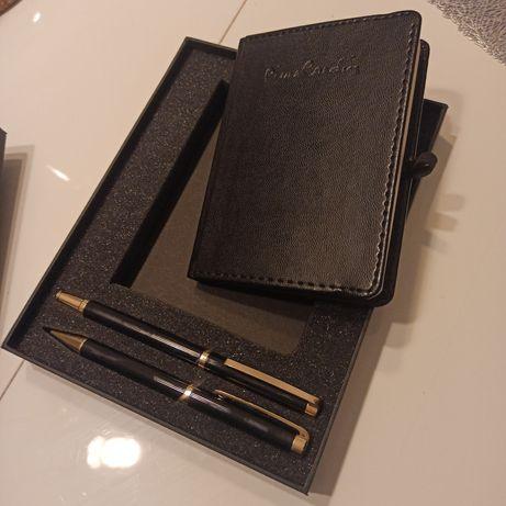 Zestaw pióro wieczne, długopis i notes pierre cardin - nowe