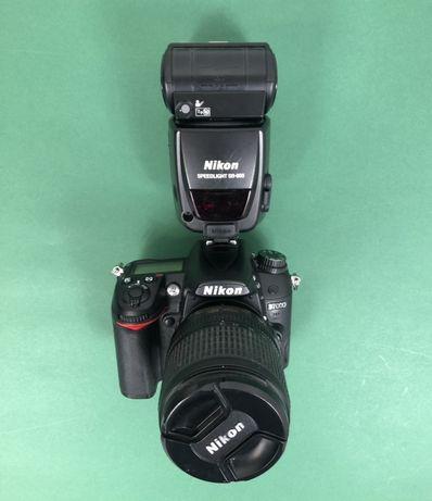 Aparat Nikon D9000 + obiektyw Nikon 18-105mm + lampa Nikon SB-800