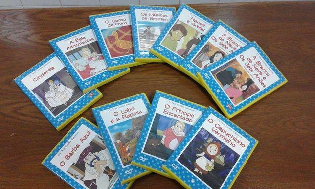 Vendo 11 DVDs de animação contos clássicos (novos)