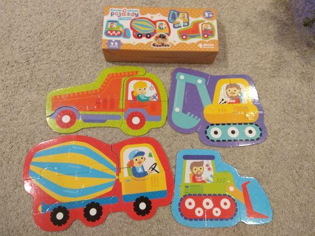 Czu czu puzzle 2+ dla dziecka pojazdy