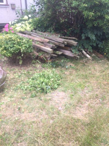 drewno z rozbiórki podłogi