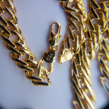 Złoty łańcuszek plus złota bransoletka,grawer,18k,750,ITaly,NOWY,ROMBO