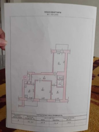 Продам 3-х комнатную квартиру в центре.