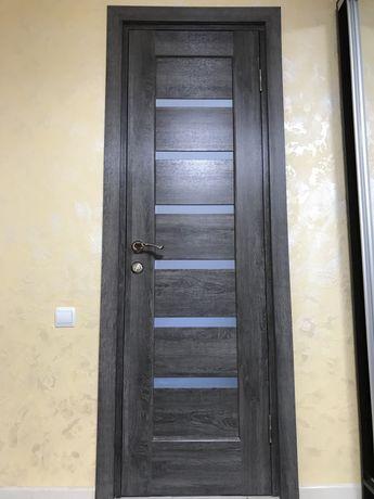 Нові двері дерев'яні міжкімнатні з коробкою, замками,ручками