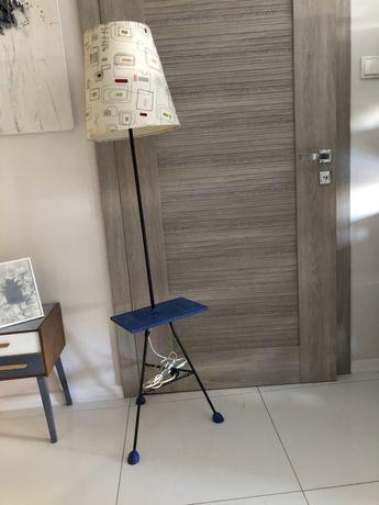 Lampa stojąca PRL- ikea abażur