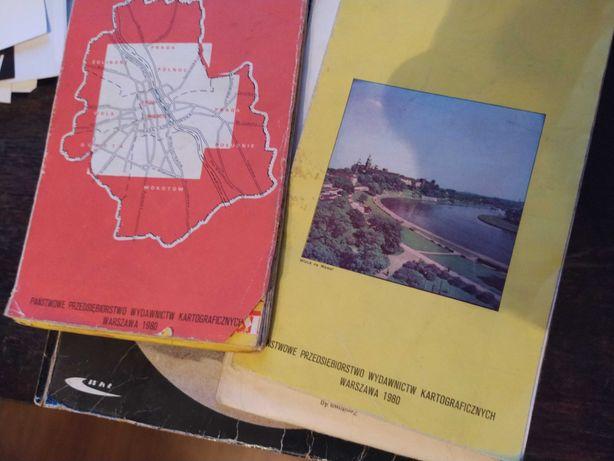 Fiat, Polonez,FSO mapy miast z epoki w oryginalnym etui