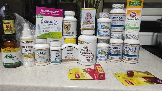 Омега3 , камилия, мультивітаміни, цинк IHerb в наявності Рівне биотин