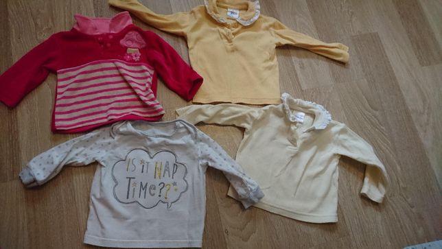 Кофточки футболки на девочку 3-6 мес