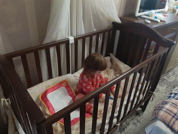 Детская кроватка Veres на колёсиках