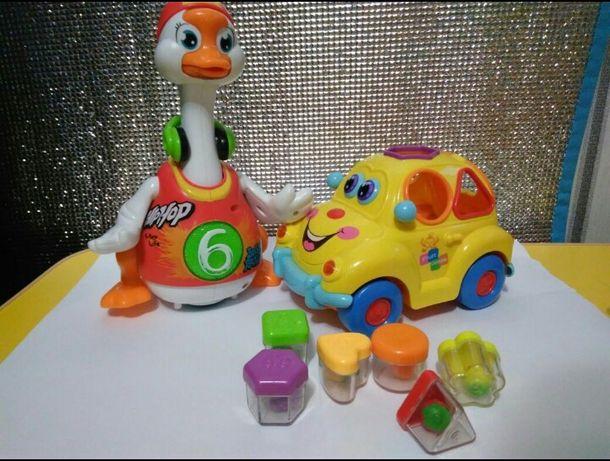 Танцующий гусь машинка сортер игрушка детская