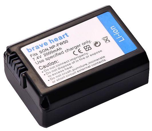 Bateria Brave Heart NP-FW50 para câmeras Sony