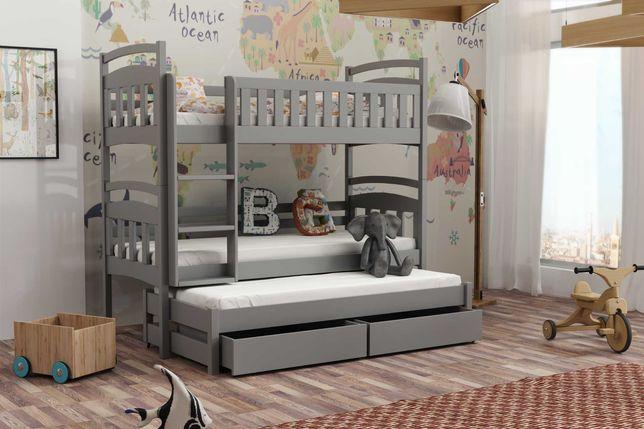 Łóżko dla trójki dzieci 190x80 wojtek 7 - materace gratis!