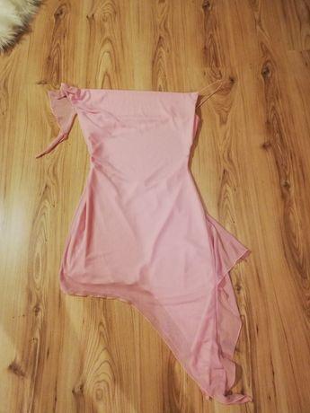 Śliczna pudrowo różowa sukienka