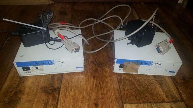 splitter 4 i 8 portowy rozdzielacz video VGA reklama projektor monitor