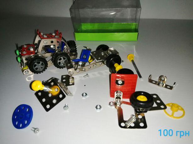 Конструктор металлический машинка