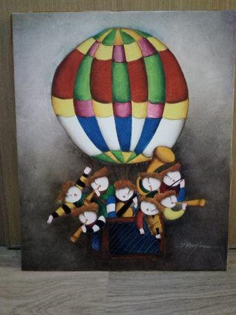 Quadro com balão voador