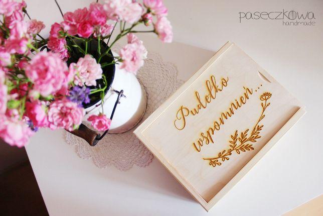 Pudełko wspomnień, drewniane pudełko na zdjęcia GRAWER dowolny