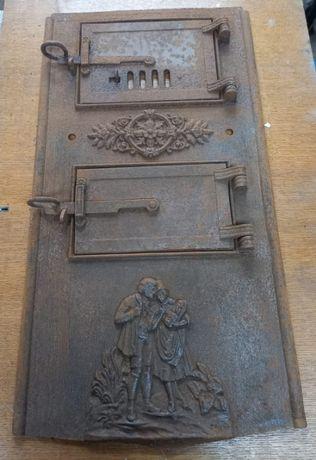 Drzwiczki do pieca antyk zabytkowe żeliwne retro unikatowe
