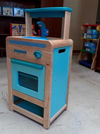 Cozinha, lava loiça de madeira