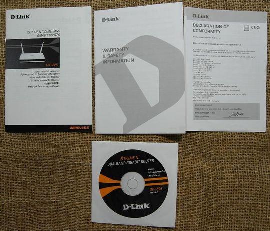 Мануал и диск для роутера D-Link DIR-825